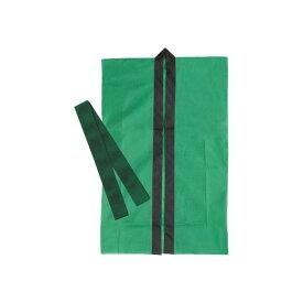 (まとめ)アーテック ロングハッピ不織布 緑 S(ハチマキ付) 【×30セット】