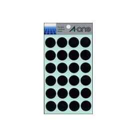 (業務用セット) エーワン カラーラベル 丸型20mm径 07049 黒 1P14シート(336片)入 【×10セット】