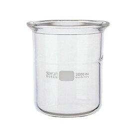 【柴田科学】セパラブルフラスコ 円筒形 バンド式(SCHOTTタイプ) 150mm 2L