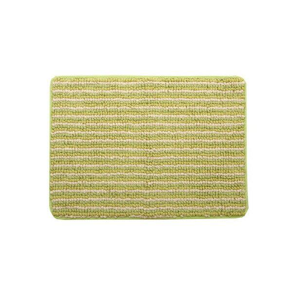 バスマット 洗える 抗菌防臭 吸水 部屋干しOK 『プラチナクリーン ナリ』 グリーン 約35×50cm