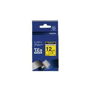 (業務用30セット) ブラザー工業 文字テープ TZe-631黄に黒文字 12mm ×30セット