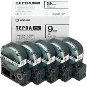 (業務用5セット) キングジム テプラ PROテープ/ラベルライター用テープ 【幅:9mm】 5個入り SS9K-5P ホワイト(白) 【×5セット】
