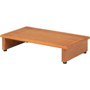 モダン調 ステップ/玄関台 【ブラウン 幅60cm】 脚付き 木製 〔縁側 介護〕【代引不可】