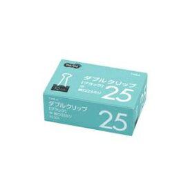 (まとめ) TANOSEE ダブルクリップ 中 口幅25mm ブラック 1セット(300個:10個×30箱) 【×2セット】