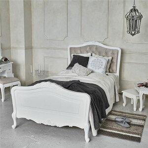アンティーク調ベッド【セミダブルサイズ】木製/パイン材猫足姫系RB-1660AW-SDアンティークホワイト(白)【代引不可】