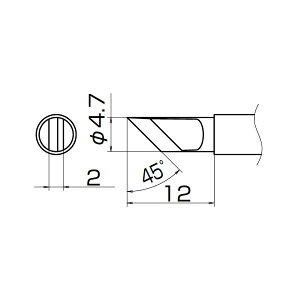 白光 T12-KRZ こて先/KR型(Z) 長寿命