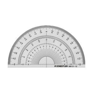 (まとめ) ステッドラー 半円分度器 12cm 968 51-12 1枚 【×50セット】