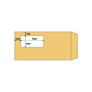 (まとめ) ヒサゴ 窓つき封筒 A4三ツ折用クラフト紙 MF17 1箱(100枚) 【×10セット】