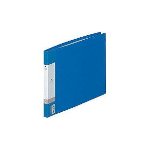 (まとめ) リヒトラブ リクエスト クリヤーブック(クリアブック) A4ヨコ 20ポケット 背幅16mm 青 G3220-8 1冊 【×30セット】