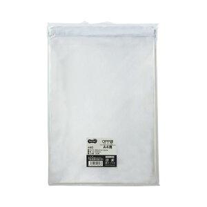 TANOSEE OPP袋 フタ・テープ付A4用 225×310+40mm 1セット(1000枚:100枚×10パック)