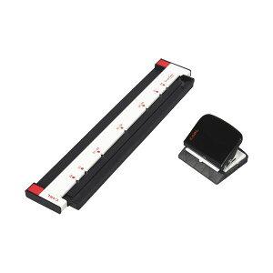 (まとめ)カール事務器 ゲージパンチ ブラック GP-2630-K 1台【×2セット】