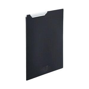 (まとめ) リヒトラブ AQUA DROPsクリップファイル A4 黒(不透明) F-5067-24 1枚 【×30セット】