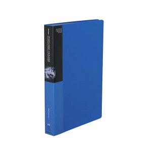 コクヨ ポストカードホルダー(固定式)A4タテ 200枚収容 青 ハセ-230NB 1セット(4冊)