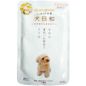 (まとめ)犬日和レトルト ささみと野菜 80g(ペット用品・犬用フード)【×30セット】