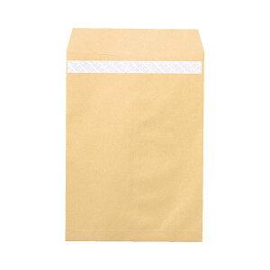(まとめ)ピース R40再生紙クラフト封筒テープのり付 角2 85g/m2 業務用パック 697 1箱(500枚)【×3セット】