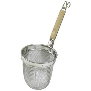 【20個セット】 麺類用 湯切り/調理器具 【幅140mm】 日本製 木製取っ手付き 『パール金属 ミドルプロ 木柄うどんテボ』【送料無料】