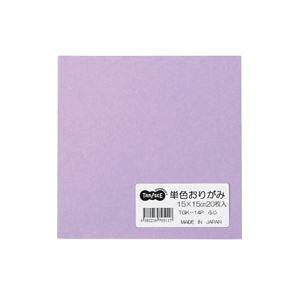 (まとめ) TANOSEE 単色おりがみ ふじ 1パック(20枚) 【×100セット】