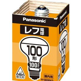 (まとめ) パナソニック レフ電球 屋内用 100W形 E26口金 ホワイト RF100V90W/D(1個) 【×10セット】