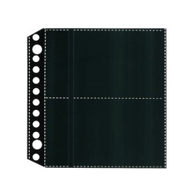 (まとめ)ライオン事務器名刺ポケット(両面ポケット)[ちょい足しポケット] 2・12穴 両面4ポケット ヨコ入れ MP-4BK1パック(10枚) 【×30セット】
