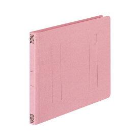 (まとめ) コクヨ フラットファイルV(樹脂製とじ具) B5ヨコ 150枚収容 背幅18mm ピンク フ-V16P 1パック(10冊) 【×10セット】