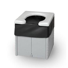 サンコー 簡易ポータブルトイレ グレー R-56