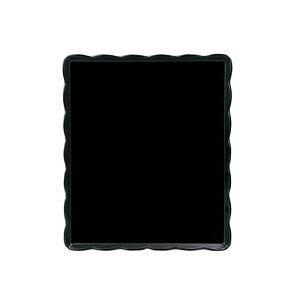 よし与工房 ウェーブメラミンケーキトレー(黒) YO-3035-K WKCN701
