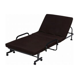 低反発折たたみベッド 通常タイプ 幅98×奥行208×高さ43cm スチール ポリエステル100% ウレタンフォーム(代引不可)【送料無料】