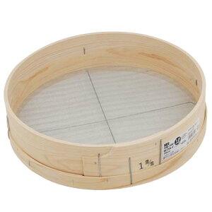 千吉・木製砂フルイ(丸型)‐35cm・1.0MM 園芸道具:盆栽用品:土入れ(代引き不可)