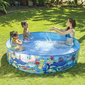 空気入れ不要 JILONG ジーロン ガーデンプール180cm ビニールプール 浮き輪 プール 家庭用 水遊び【送料無料】