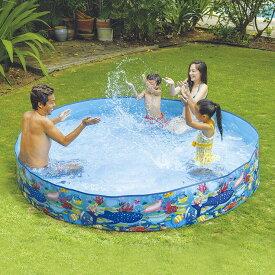 空気入れ不要 JILONG ジーロン ガーデンプール240cm ビニールプール 浮き輪 プール 家庭用 水遊び【送料無料】
