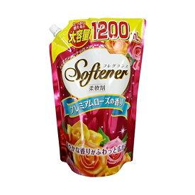日本合成洗剤 フレグランスソフター プレミアムローズの香り 大容量 1200mL