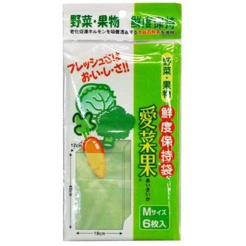 NIPRO(二プロ) 愛菜果 野菜 果物 鮮度保持袋 6枚入 M