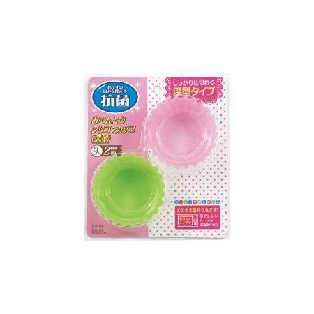 まるき ラクラクママ おべんとうシリコンカップ深型9号2個入 グリーン1、ピンク1