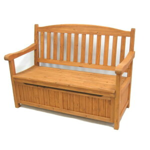 ベンチ 木製 屋外 ガーデン収納庫付ベンチ120 ホワイト/ブラウン 椅子 スツール 天然木 木製 収納 倉庫 ウッドボックス 物置(代引不可)【送料無料】