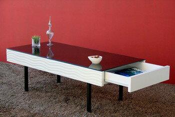 リビングテーブル センターテーブル テーブル リビングテーブル ヴィンテージ おしゃれ 机 リビング 鏡面 モノトーン ミッドセンチュリー シュール(代引不可)【送料無料】