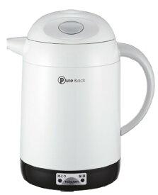 TESCOM テスコム PureBlack 電気ポット ホワイト TP18-W【送料無料】
