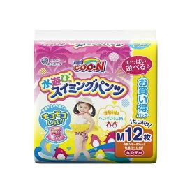 大王製紙 グ~ン スイミングパンツ Mサイズ12枚女の子(代引不可)