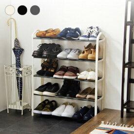 シューズラック 5段 収納 靴箱 シューズボックス 下駄箱 薄型 シューズbox スリム 靴入れ 一人暮らし【送料無料】