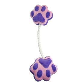 ペットプロ ペットプロ 足型ひっぱりロープ 紫
