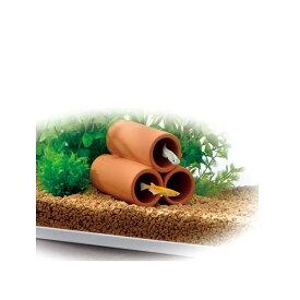 ジェックス 癒し水景素焼きの隠れ家丸土管ミニ3連
