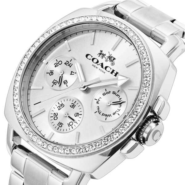 コーチ COACH ボーイフレンド クオーツ レディース 腕時計 時計 CO14502079 シルバー【楽ギフ_包装】