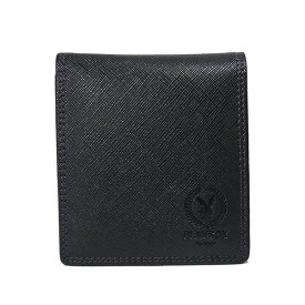 プレイボーイ PLAYBOY ユニセックス 二つ折り短財布 MPB-0061 ブラック