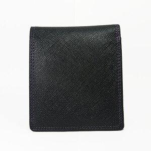 プレイボーイPLAYBOYユニセックス二つ折り短財布MPB-0061ブラック【楽ギフ_包装】