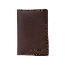 レノマ renoma カードウォレット パスケース メンズ RE9007-002 ブラウン
