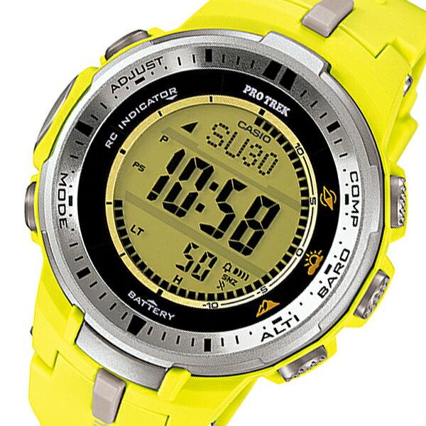 カシオ CASIO プロトレック PRO TREK タフソーラー メンズ 腕時計 時計 PRW-3000-9B イエロー【楽ギフ_包装】