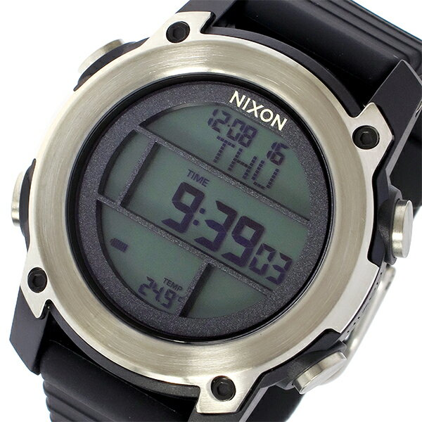 ニクソン NIXON ユニット ダイブ THE UNIT DIVE クオーツ メンズ 腕時計 時計 A962-000 ブラック/シルバー【楽ギフ_包装】