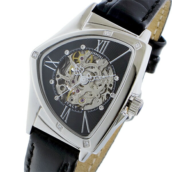 コグ COGU 自動巻き レディース 腕時計 時計 BS01T-BK ブラック/シルバー【楽ギフ_包装】