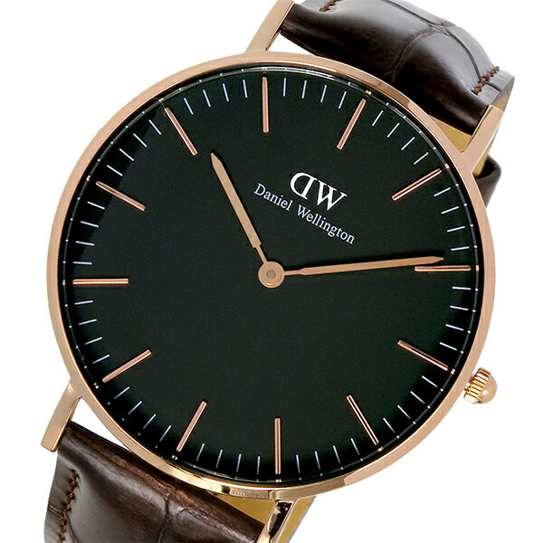 ダニエル ウェリントン クラシック ブラック ヨーク/ローズ 36mm ユニセックス 腕時計 時計 DW00100140【楽ギフ_包装】