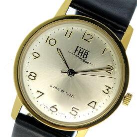 e1120fb43d エフエイチビー FHB 替えベルト付 腕時計 F908YG-RD-BK ゴールド×ブラック シャンパンゴールド