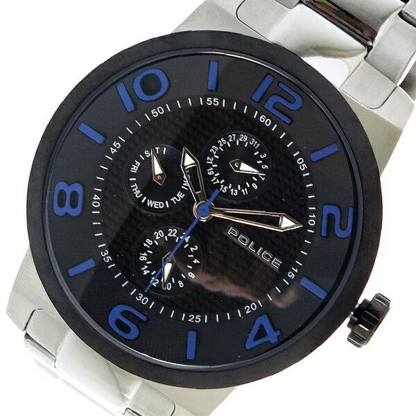 ポリス POLICE クオーツ メンズ 腕時計 時計 PL13923JSTB-02M ブラック【楽ギフ_包装】